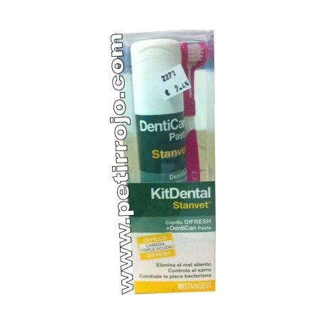 Kit dental cepillo más pasta. Stanvet