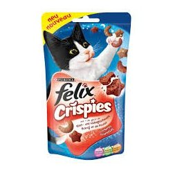 Felix Party Crispies Salmón Golosinas Gato